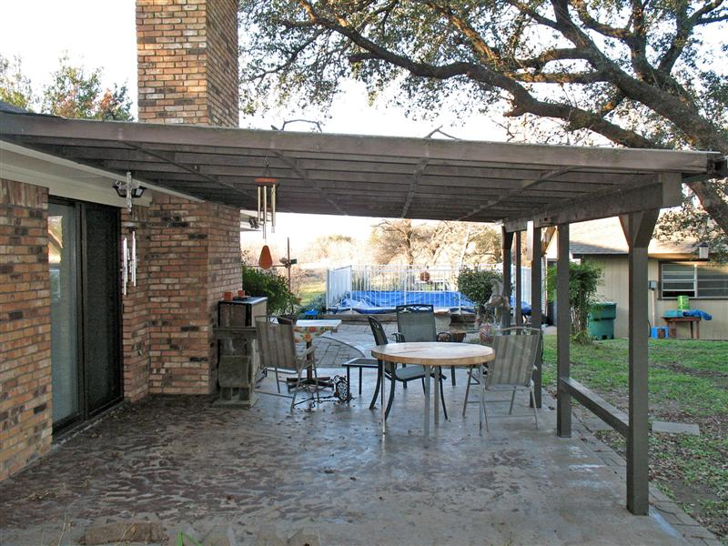 Stephenville realty for Covered back porch